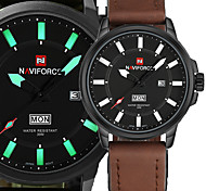 Luxury Brand NAVIFORCE Military Watches Men Quartz Analog Clock Man Leather Sports Watches Army Watch Relogios Masculino Gift Box