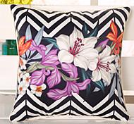1 Pcs 3D Lily Flowers Pillow Case Top Grade Emulation Silk Pillow Cover