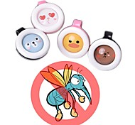 Summer Cartoon Safe Anti-Mosquito Buckle Pest Reject Mosquitoes Repellent Buckles for Adults Kids Baby Random Color