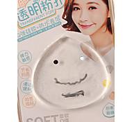 1pcs Transparent Cute Face Jelly Powder Puff