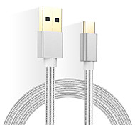 FeiPai Phone USB cable  USB 2.0 Type C Braided Cable For Samsung Huawei Sony Nokia HTC Motorola LG Lenovo Xiaomi 120cm Textile