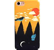 Для яблока iphone 7 7 плюс 6s 6 плюс чехол для крышки птичий узор наклейка для ухода за кожей touch pc material phone case