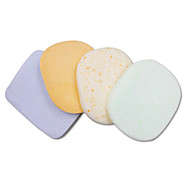 Natural Wood Pulp Fiber Pure Color Round Beauty Exfoliating Scrub Clean Face Powder Puff 4 Tablets
