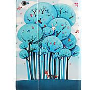 For apple ipad mini 3/2/1 with stand flip patrón magnético caja de cuerpo entero árbol de dibujos animados hard pu cuero