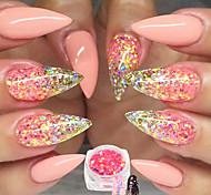 1 Bottle Nail Art DIY Glitter Sweet Style Pink Decoration Shining Mixed Hexagonal Design Match Colors Sequin Thin Slice Power Manicure DIY Beauty T
