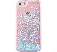 Назначение iPhone X iPhone 8 iPhone 8 Plus Кейс для iPhone 5 Чехлы панели Движущаяся жидкость Прозрачный Задняя крышка Кейс для Сияние и