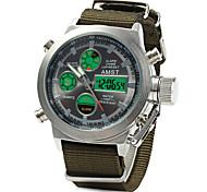 Men's Sport Watch Military Watch Digital Watch Japanese Quartz DigitalCalendar Water Resistant / Water Proof Dual Time Zones Alarm