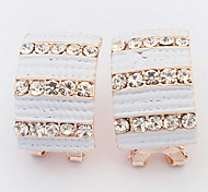 Euramerican Fashion Elegant Rhinestone Horizontal Stripes Earrings Women's Party Movie Jewelry
