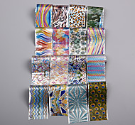 16pcs Colorful Lines Geometric Patterns Super Quality Nail Stickers Sky Paper