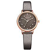 Women's Fashion Watch Bracelet Watch Japanese Quartz Water Resistant / Water Proof Leather Band Black Brown Grey