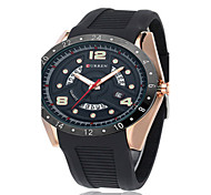 Men's Sport Watch Fashion Watch Quartz Silicone Band Black Blue