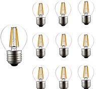 4W Bombillas de Filamento LED G45 4 COB 300 lm Blanco Cálido Blanco Fresco AC 100-240 V 10 piezas