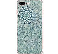 Для яблока iphone 7 7 плюс 6s 6 плюс крышка цветка крышки случая hd покрашенная tpu материал мягкий случай случая телефона