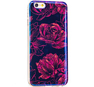 Pour iphone 7 plus / iphone 7case back cover case fleur tpu doux pour apple iphone 6s plus / iphone 6