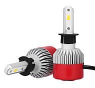 2pcs H3 7200LM Headlight Conversion Kits with Headlight Bulbs Bridgelux CSP Chip