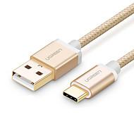 USB 2.0 Type-C Плетение Позолота Быстрая зарядка Кабели Назначение Samsung Huawei Sony Nokia HTC Motorola LG Lenovo Xiaomi