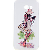 For Samsung Galaxy A5(2017) A3(2017) Phone Case Travel Girl Pattern Soft TPU Material Phone Case