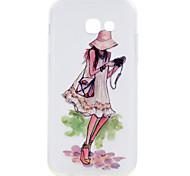 Для samsung galaxy a3 a5 (2017) чехол для случая сон девушка серия окрашенная высокая проникающая ткань материал мягкий чехол для телефона