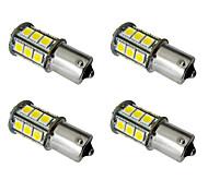 4шт 1156 ba15s / bay15d 1157 2.5w светодиодная лампочка автомобиля 24 smd 5050 taillight / стоп-сигнал / свет поворота dc 12v белый /
