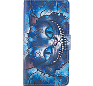 Case For Samsung Galaxy Grand Prime On7(2016) Case Cover The Blue Cat Pattern PU Leather Cases for On5(2016)