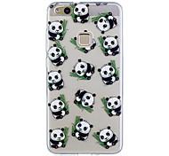Para huawei p10 lite p10 caso panda patrón pintado de alta penetración tpu material imd proceso suave caso teléfono caso