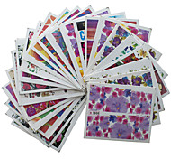 50PCS Flowers Nails Stickers The Watermark Nail art Applique Pattern is Random