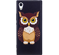 Sony Xperia XA1 XZ  Case Cover Owl Pattern Painted Embossed Feel TPU Soft Case Phone Case