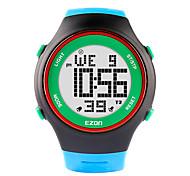 Ezon часы моды ультра-тонкие женщины мужские спортивные водонепроницаемая цифровая дата Секундомер сигнализация резиновый наручные часы