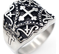 Classic Cross Stainless Steel Ring Cross Jewelry For Special Occasion Thank You Gift Daily Casual Christmas Gifts 1 pc