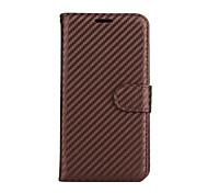For Motorola Moto G4 Plus G4 Case Cover The Carbon Fiber Grain PU Leather Cases