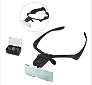 5 Lens Headset Magnifier Magnifying Glass Eyelash Extension LED & Hands Free--1 pcs