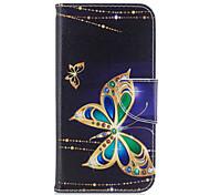 Para samsung galaxy a5 (2017) a3 (2017) caixa de telefone material de couro de pu grande padrão de borboleta pintado a5 (2016) a3 (2016)