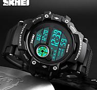 SKMEI Homens Relógio Esportivo Relógio de Pulso Relogio digital Digital Calendário Impermeável alarme Noctilucente Cronômetro Borracha