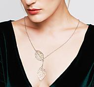 Жен. Ожерелья с подвесками В форме листа Стерлинговое серебро Регулируется Мода бижутерия Бижутерия Назначение Свадьба Для вечеринок
