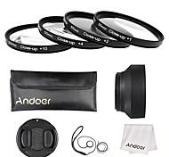 Andoer 55mm close-up conjunto de filtros de lente macro (1 2 4 10) con accesorios para lentes