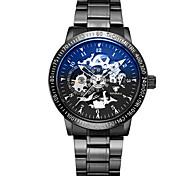 Жен. Часы со скелетом Механические часы Японский С автоподзаводом Фосфоресцирующий сплав Группа Черный