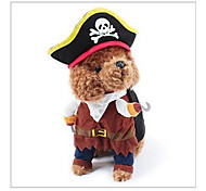 Кошка Собака Костюмы Одежда для собак Косплей Хэллоуин Черепа Черный Коричневый