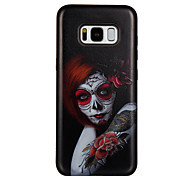 Case For Samsung Galaxy S8 S8 Plus Case Cover Red Eye Girl Pattern PC TPU Combo Strong Relief Drop Phone Case For Galaxy S7 S7 Edge S6 S6 Edge