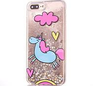 Case for apple iphone 7 7 plus чехол чехол однокорн модель мягкая сторона алмазная звезда флеш-пудра quicksand phone case 6s 6 plus