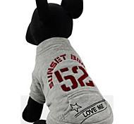 Собака Толстовка Одежда для собак На каждый день Английский Серый Лиловый