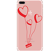 Per Custodie cover Transparente Fantasia/disegno Custodia posteriore Custodia Con cuori Morbido TPU per AppleiPhone 7 Plus iPhone 7