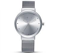 Men's Fashion Watch Quartz Stainless Steel Band Black Silver Gold