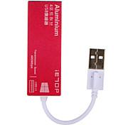 IETOP 4 portas Hub USB USB 2.0 Protecção de Entrada Hub de dados