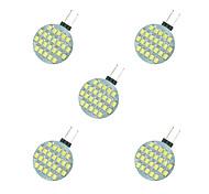 2.5W Двухштырьковые LED лампы 24 SMD 2835 189 lm Тёплый белый Белый DC 12 V 5 шт.