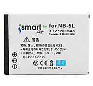Ismartdigi 5L 3.7V 1200mAh Camera Battery for Canon S110 SX200 SX210 SX220hs SX230hs