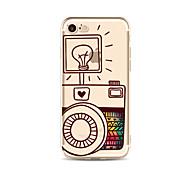 Caso para el iphone 7 más 7 cubra el caso suave de la contraportada del patrón de la historieta caso suave del bulbo de radio de la