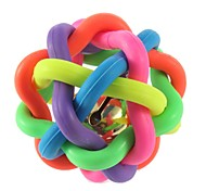 1pc Cat Toy Dog Toy Pet Toys Ball Chew Toy Interactive Teeth Cleaning Toy Squeaking Toy Cute Squeak / Squeaking Elastic Fun Nobbly Wobbly