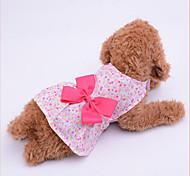 Собака Платья Одежда для собак На каждый день Бант Лиловый Синий Розовый