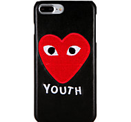 Case for apple iphone 7 plus / 7 обложка шаблон задняя крышка чехол слово / фраза сердце жесткий ПК iphone 6s плюс / 6 плюс / 6s / 6