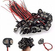 9-вольтовые зажимы аккумуляторных зажимов приводят в действие держатели проводов - черный (100 шт.)